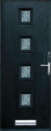 black composite door